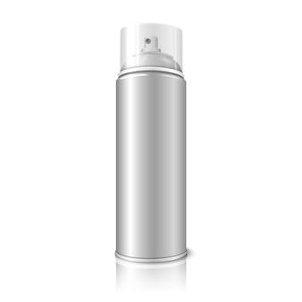 Spray de aerosol realista en blanco