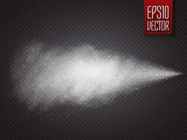 Spray efecto aislado. vector ssmoke con muchas partículas pequeñas