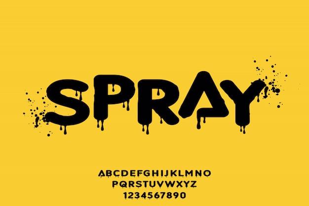 Spray, forma geométrica tipo de vector fuente tipo de alfabeto