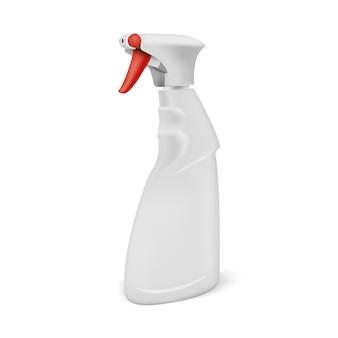 Spray pistola limpiador botella de plástico en blanco