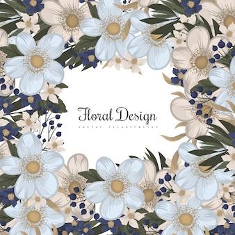 Spring flower boarder - flor azul claro