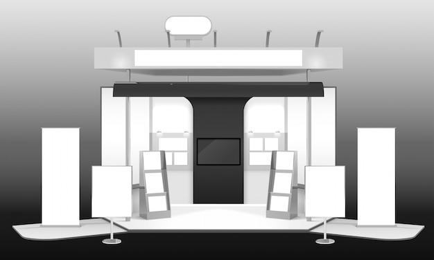 Stand de exposición 3d design mockup