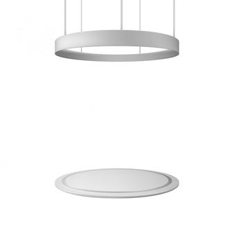 Stand de exposición en blanco. ilustración aislada concepto gráfico para su diseño.