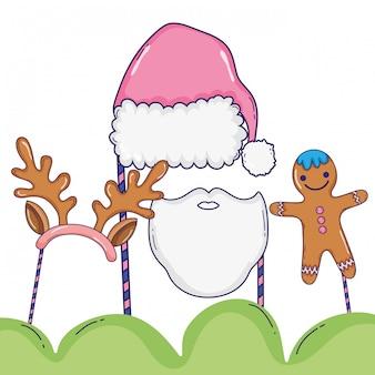 Stand de navidad apoyos dibujos animados