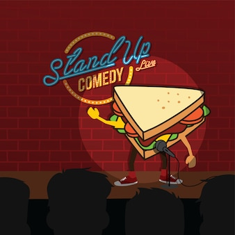 Stand up comedy sandwich open mic