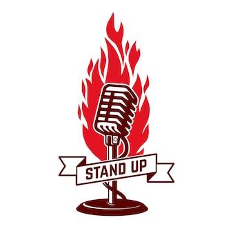 Stand up show emblema plantilla. . .