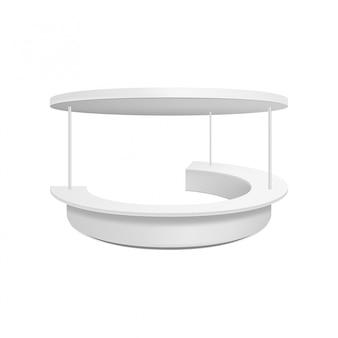 Stand de venta en blanco vacío. ilustración aislada concepto gráfico para su diseño.