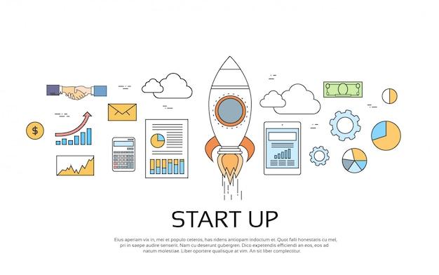 Start up concept nuevo plan de negocios