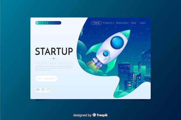 Startup landing page