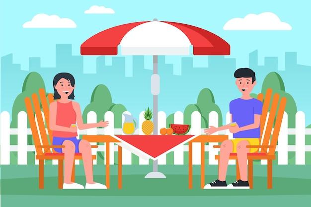 Staycation en el patio trasero