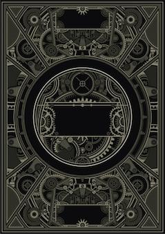Steampunk cartel plantilla vector eps