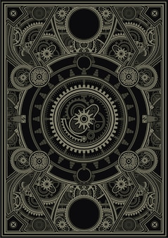 Steampunk cartel plantilla vector eps