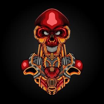 Steampunk de cráneo