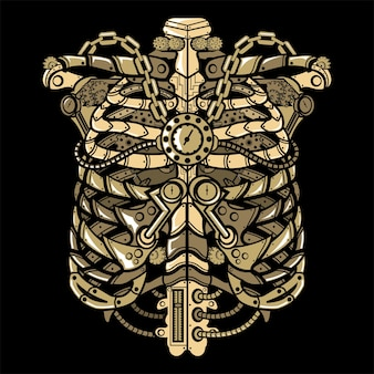 Steampunk ribcage