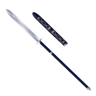 Stock japonés tradicional lanzas en blanco