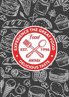 Stock vector plantilla restaurante menú