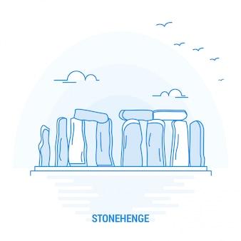 Stonehenge blue landmark