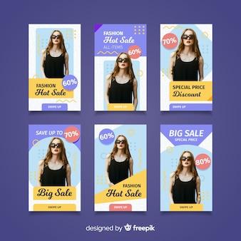 Stories de instagram sobre venta de ropa