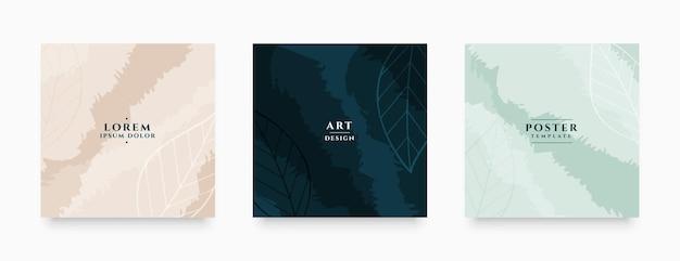 Storis de redes sociales y diseño de banner de publicación abstracta