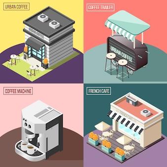 Street coffee 2x2 concepto de diseño