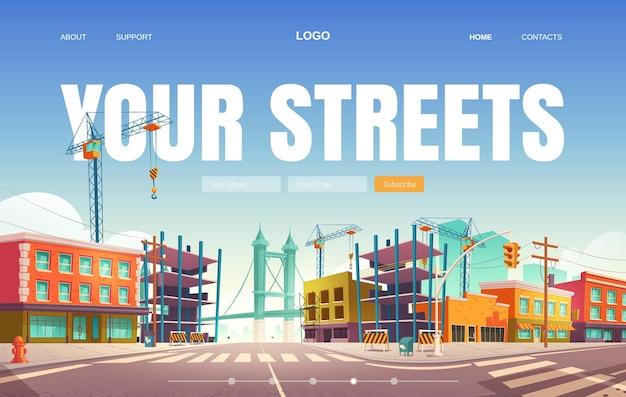 Su banner web de calles.