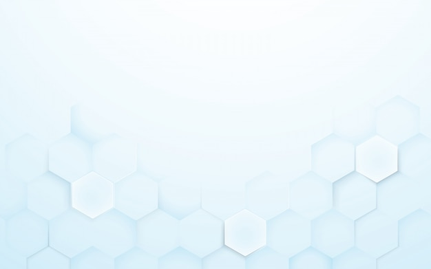 Suave azul y blanco 3d hexágonos textura de fondo