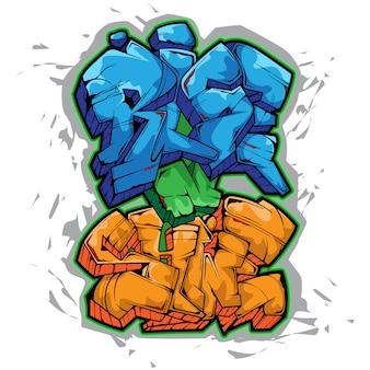 Sube y brilla grafitti