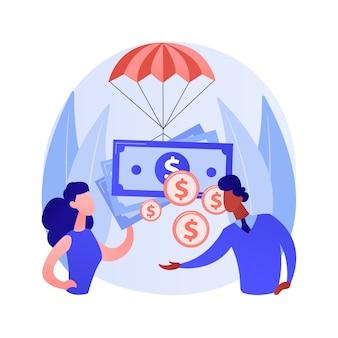 Subsidio salarial para empleados de empresas concepto abstracto