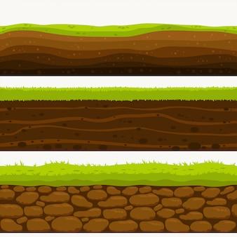 Suelo capas sin costura capa de tierra