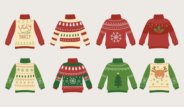 Suéteres feos navideños fiesta diferentes