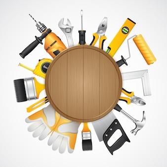 Suministros de herramientas de construcción para el constructor de construcción de viviendas