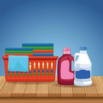 Suministros de limpieza y kit de limpieza.