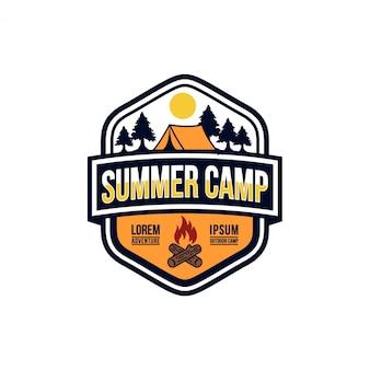 Summer camp vintage imagenes de archivo