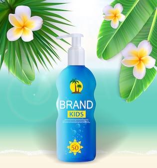 Sun cream cream bottle, plantilla de tubo