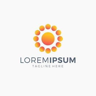 Sun logo color naranja