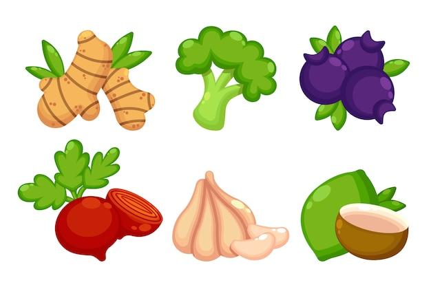 Súper alimentos orgánicos para la salud y la dieta.