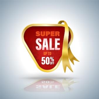 Super banner de venta estilo 3d