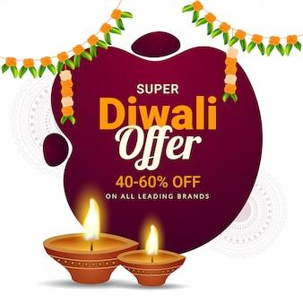 Super diwali offer 40-60% de oferta de descuento.