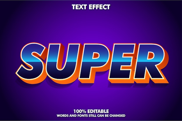 Super efecto de fuente en 3d