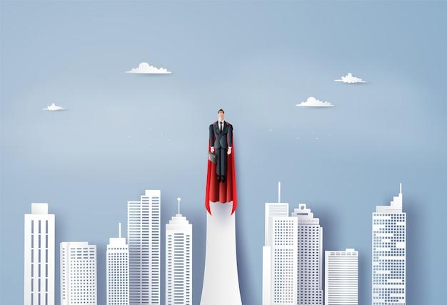 Super empresario volando