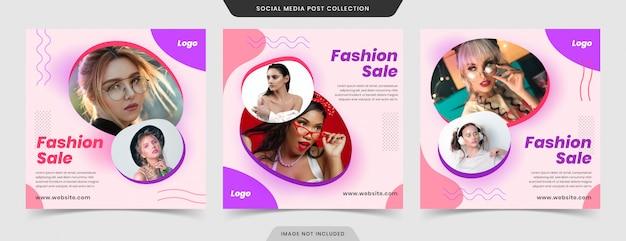 Super exclusivo mega venta de moda redes sociales post banner y web banner colección.