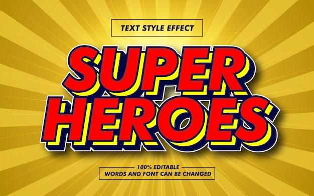 Super heroes bold text style effect