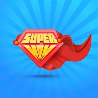 Súper mamá. logo de supermom. concepto del día de la madre madre superhéroe