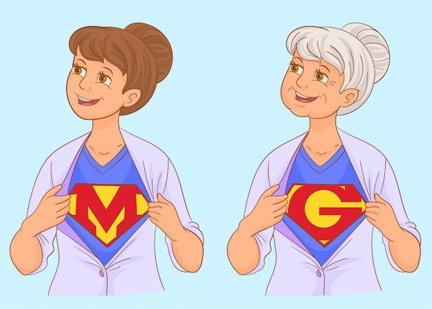 Super mamá y super abuela