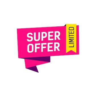 Super oferta banner creativo limitado