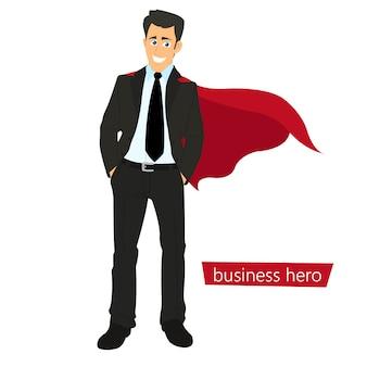 Super personas en la ilustración de negocios.