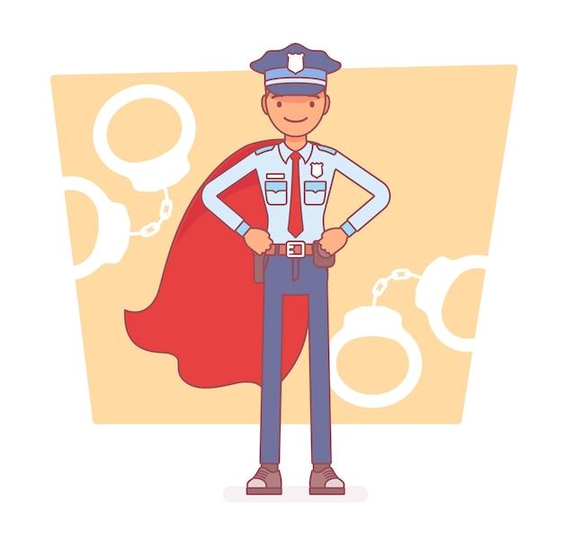 Super policía en servicio