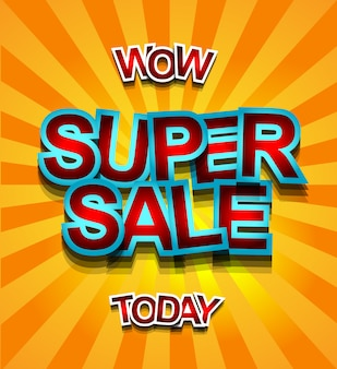 Super sale today banner