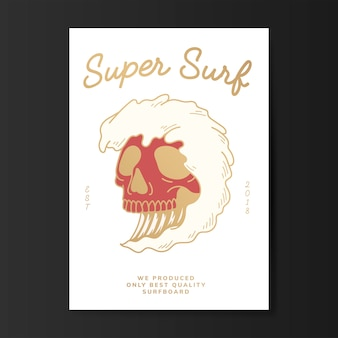 Súper surf logo ilustración