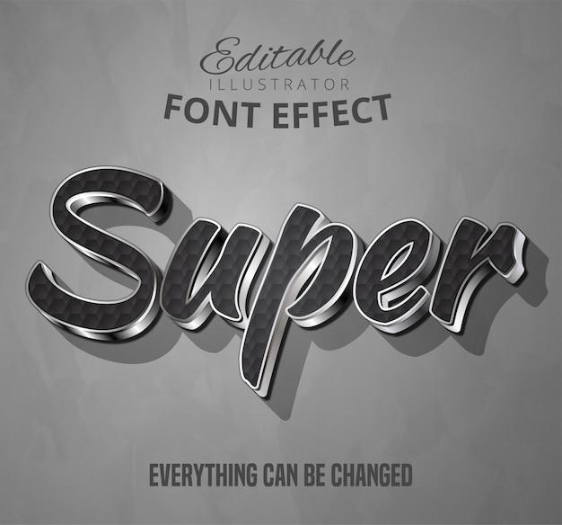Super texto, efecto de fuente editable